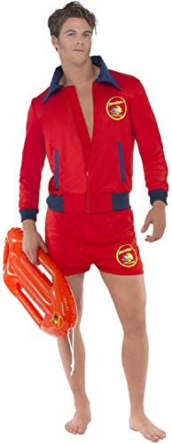 Mens Sexy Baywatch Lifeguard Emergency Service Stag Do Night Party TV Series Book Film Fancy Dress Costume Outfit (Medium) ()