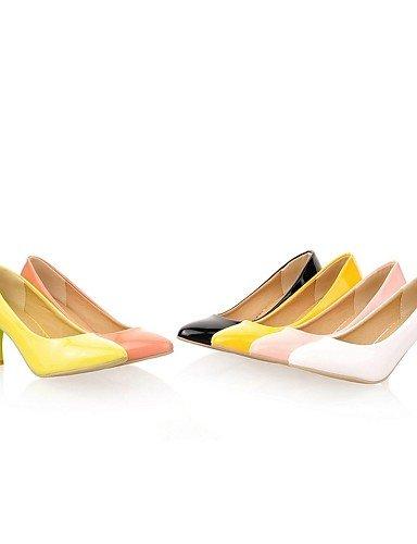 GGX/Damen Schuhe Kunstleder Chunky Heel Heels Heels Office & Karriere/Party & Abend/Kleid/casualblack pink-us10.5 / eu42 / uk8.5 / cn43