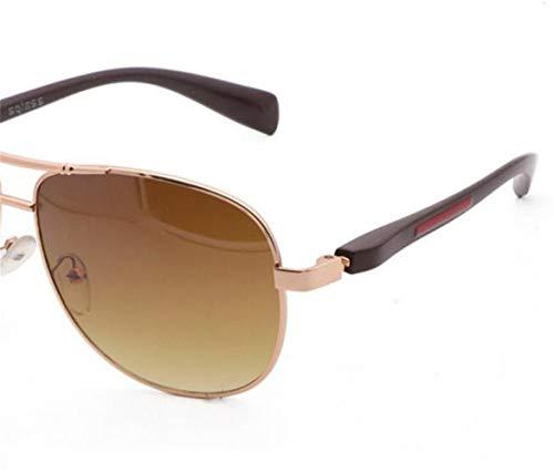conduite de solaire Lunettes Golden pour de de air protection en rétro soleil de lunettes plein la UV400 unisexes FlowerKui de soleil cadre vRqwp6w