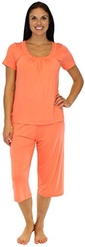 bSoft Women's Bamboo Capri Pajama Set