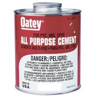 Oatey 30818 All Purpose Medium Body Cement, 4 oz Can, Milky Clear (Case of 24)