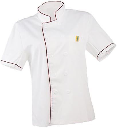 Dolity 2x Chaqueta Chef Mujeres Hombres Camisa de Cocinero Pastelero Chef Principal Ropa