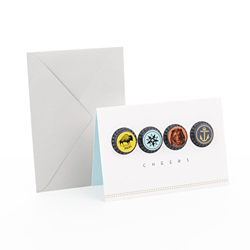 (Hallmark Signature Birthday Card or Father's Day Card (Bottle Caps))