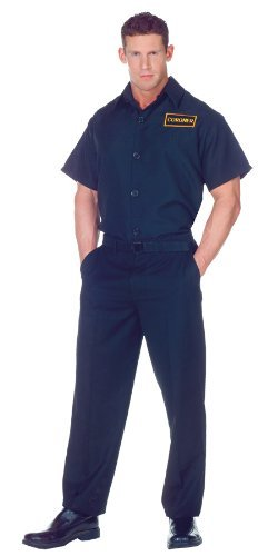 [Underwraps Men's Plus-Size Coroner Shirt, Black, XX-Large] (Mens Halloween Costume Ideas Last Minutes)