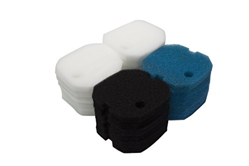 LTWHOME Poly Coarse Fine Foam Filter Pads Set Fit for Aqua One AQUIS 1200/1250 and 1000/1050(Pack of 24) (Pad Coarse Poly)