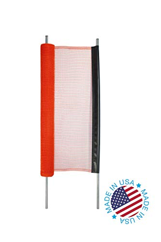 Kidkusion Non-Retractable Driveway Safety Net, Orange, 18' | Outdoor Barrier; Playtime Safety; Yard Safety