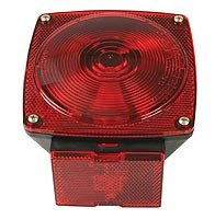 Peterson 80927 Combination Stop/turn/tail License Lamp, 12 V, Red (Pack of 12)
