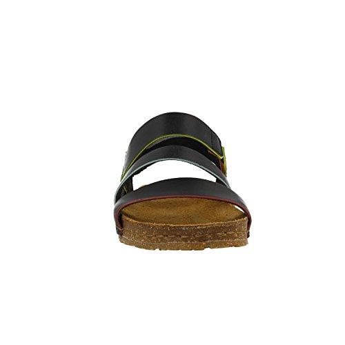 ART 1252 Damen Leder Sandale Creta Black Schwarz Black