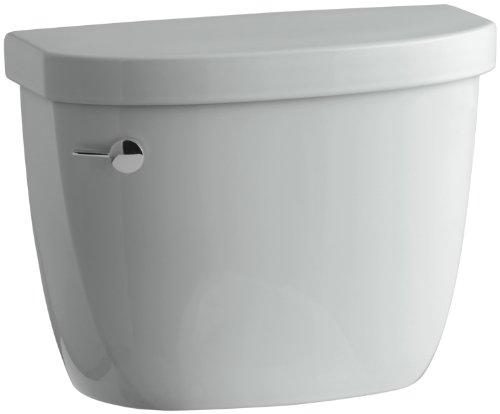 Elongated Ice Grey Rough - KOHLER K-4418-95 Cimarron 1.6 gpf Class Five Toilet Tank, Ice Grey