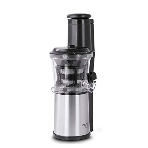 Caso SJW 500-Design Slow Licuadora lenta juicer, negro, acero inoxidable