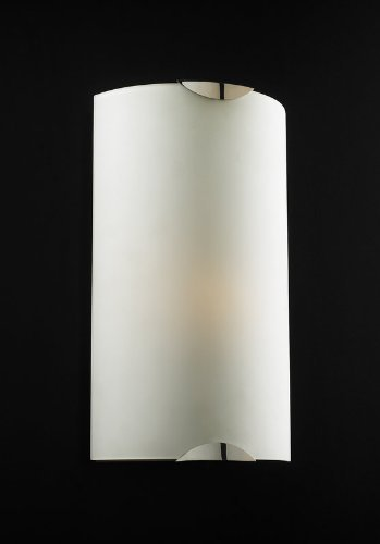 (PLC Lighting 7520 PC 1-Light Wall Sconce Playa Collection, Matte Opal Glass and Polished Chrome Finish)