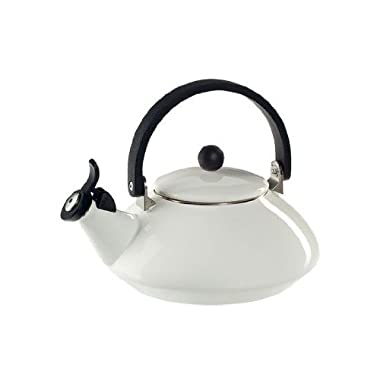 Le Creuset Enamel-on-Steel Zen 1-2/3-Quart Teakettle, White