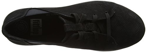 Fitflop Women's F-Sporty Laceup Sneaker Trainers, Black Black (All Black)