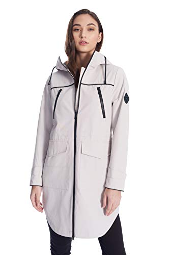 Alpine North Women's Drawstring Raincoat (Platinum, Small)