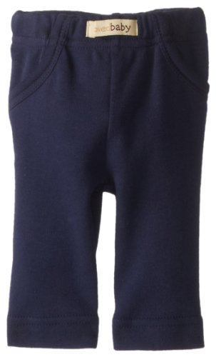 L'ovedbaby Unisex-Baby Newborn Organic Signature Pants, Navy, 9/12 Months by L'ovedbaby (Image #1)