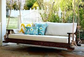 AD Planet Wooden Hanging Rope Walnut Chain Swing Sofa for Home and Garden