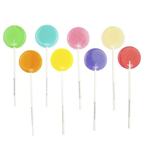 Happy Pops Flavorful Lollipops (24 Pieces) Strawberry Lemonade/Cotton Candy/Watermelon/Cotton Candy/Green Apple/Blackberry/Peach/Horchata/Pumpkin Spice, Handcrafted in USA by Sparko Sweets (Best Lemonade In Los Angeles)