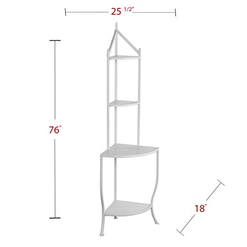 Furniture HotSpot Corner Bakers Rack - White - 25.5'' W x 18'' D x 76'' H by Furniture HotSpot (Image #4)