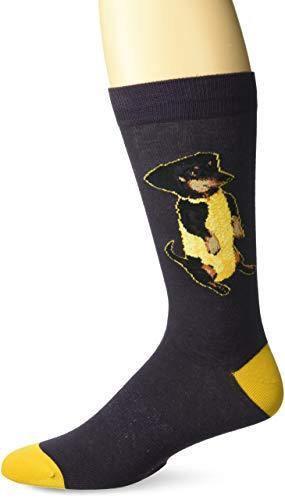 K. Bell Mens Play on Words Novelty Crew Socks