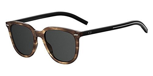 Christian única Dior Grey Talla hombre para sol de Brown Gafas Striped Marrón aUrngPwaqd