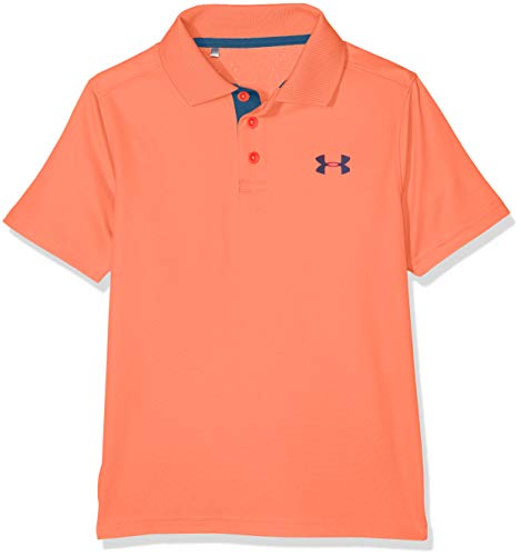 Under Armour Performance Polo - After Burn/Techno Teal, Youth X-Large