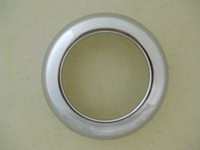 2.5' Chrome Twist On Bezel / Clean Look / No Screws / Fits 2.5' Round LED Lights