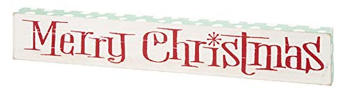 Holidays ~ Retro Vintage Merry Christmas Sign - 14.5 inch - for Hanging or Tabletop