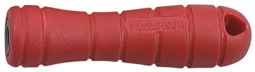 Nicholson - 3-1/2'' Red Plastic Screw-On File Handle for use with a File at Least 4'' Long (24 Units)