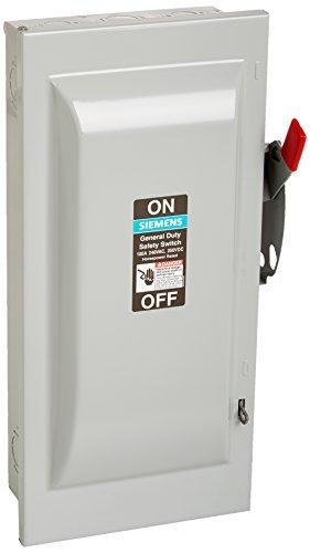 SIEMENS GF323N 100 Amp, 3 Pole, 240-Volt, 4 Wire, Fused, General Duty, Indoor Rated by Siemens