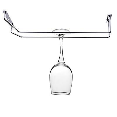Kloud City ® Wine Glass Rack Holder Single Rail Stemware Hanger Drying Rack Bar Homeware Tool