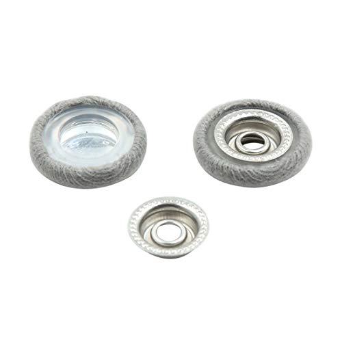 (X AUTOHAUX 2 Set Gray 4mm Dia Nut Screw Bolt Caps Covers Interior Decoration for Car)