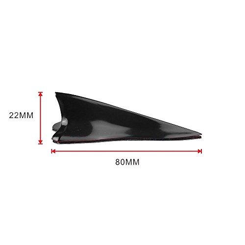 OSIAS 10PCS VORTEX GENERATOR FLEXIBLE PP EVO-STYLE ROOF SHARK FINS SPOILER WING KIT BLACK3 (Wing Shark)