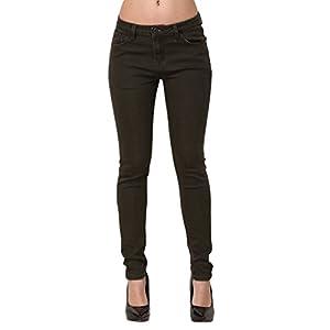 ZLZ Skinny Jeans, Women's Casual Butt Lift Stretch Jeans Leggings (6, Olive Green)