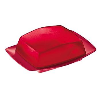 Color Rojo Mantequillera con Tapa Koziol Rio