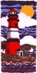 Caron Wonderart 16x32 Latch Hook Kit: Lighthouse by Caron