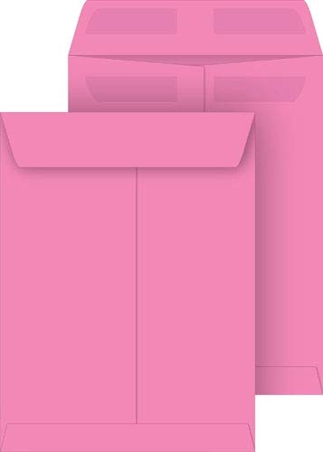 Pink 9x12 Catalog Envelopes, Press & Seal, 10-Pack