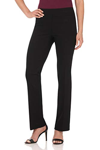 Rekucci Women's Ease in to Comfort Boot Cut Pant (14,Black Stripes) ()