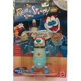 """The Ren & Stimpy Show SPACE CADET STIMPY WITH EJECTOR-BRAIN ACTION From """"Space Madness"""" Episode By Matel 1993 Item No. 3567"""