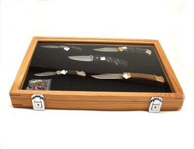 Vitrina expositor madera 46 x 30 x 5 para cuchillos: Amazon ...