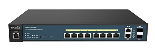 EnGenius  8 Gigabit 802.3at/af PoE+ Port Full Power Layer 2 Managed Switch, 2 SFP & 2 Uplink Ports, 130W PoE Budget  with Centralized Network Management [managed up to 50 EnGenius APs] (EWS5912FP) by EnGenius