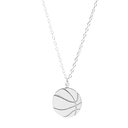 Deidreamers Sterling Silver Basketball Necklace (Small)