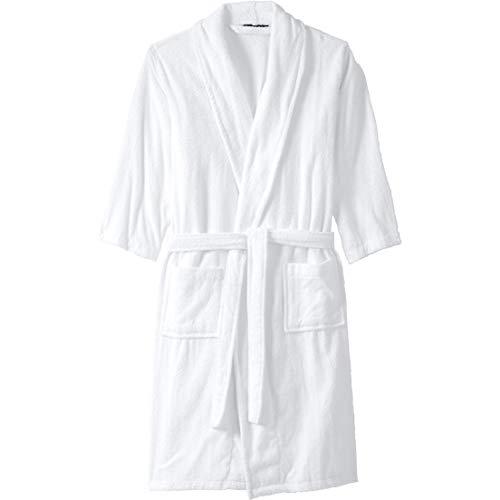 - KingSize Men's Big & Tall Terry Bathrobe with Pockets, White Big-5Xl/6X