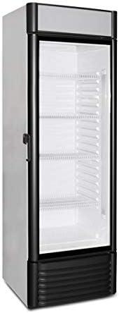 Kühlschrank mit Glastür 360 Liter Flaschenkühlschrank Getränkekühlschrank Gewerbekühlschrank 600 x 600 x1900 mm