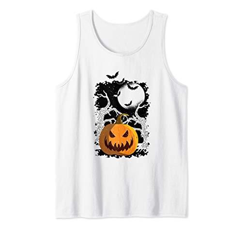(Scary Pumpkin - Cool Halloween Tank)