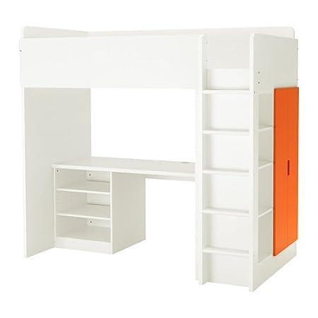 Ikea 26386.232917.1414 - Cama Doble con 2 estantes, 2 Puertas ...