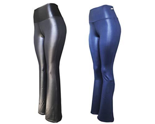 Kit 2 Legging Suplex Plus Size G1 G2 G3 Estampada Ou Lisa Leg Academia Ginastica (21A-21A, G3)