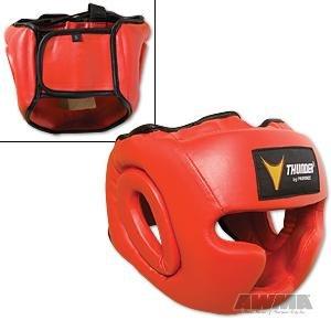 ProForce Thunder Vinyl Full Face Boxing Headgear - Red - Large / X-Large