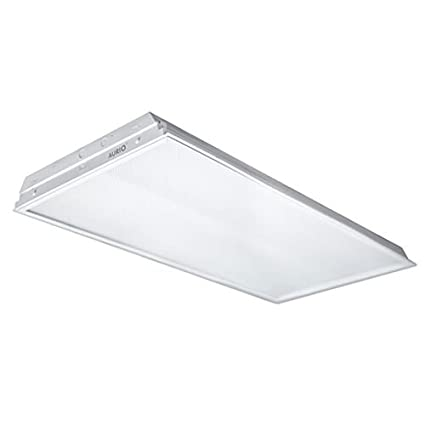 Aurio Lighting T8 LED Recessed Troffer 2x4, 70W, 6000 Lumens, 5000K,  Dimmable, Retro Fit Drop Ceiling Light