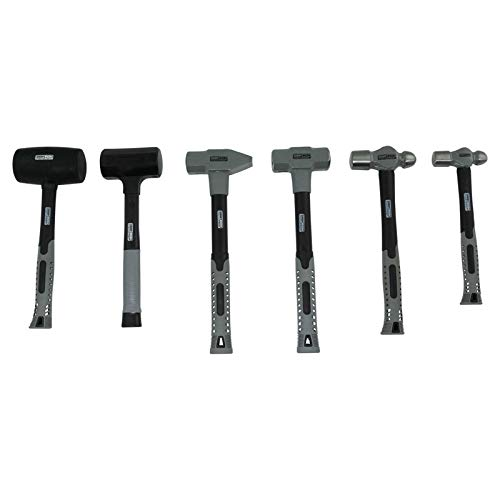 5 Piece Hammer Set Ball Pein Rubber Mallet Dead Blow Cross Pein Heavy Duty Tool by 1A Auto (Image #6)