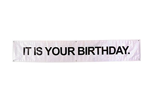 Office Banner - The Vinyl Party Banner With Metal Hanging Rings Party Supplies Decorations Happy Birthday ()
